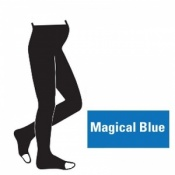 Juzo Attractive 18-21mmHg Magical Blue Maternity Compression Tights with Open Toe
